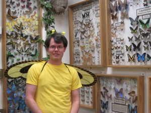 Dressed up as a bumble bee for the MSU Bug House Halloween open house in 2012.