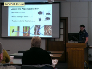 Giving my defense seminar to the Department of Entomology at MSU.